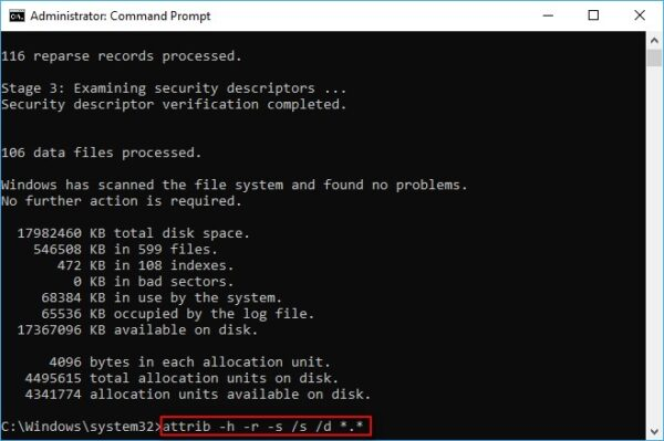 Recover Files with CMD